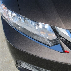 Honda Civic Sedan Chrome Headlight Trim, 2012, 2013, 2014, 2015