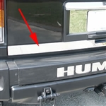 Hummer H2 Chrome Tailgate Trim, 2003, 2004, 2005, 2006, 2007, 2008, 2009