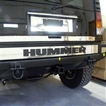 Hummer H2 Stainless Steel Rear Bumper Cover Trim, 2003, 2004, 2005, 2006, 2007, 2008, 2009