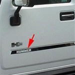 Hummer H2 Stainless Steel Door Insert Trim with 'Hummer' cut-out, 2003, 2004, 2005, 2006, 2007, 2008, 2009