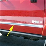 Hummer H3 Chrome Side Molding Trim, 2006, 2007, 2008, 2009, 2010