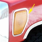 Hummer H3 Chrome  Front Marker Light Surround Accent Trim, 2006, 2007, 2008, 2009, 2010