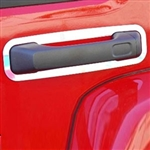 Hummer H3 Chrome Door Handle Surround Accent Trim, 2006, 2007, 2008, 2009, 2010