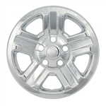 "Jeep Wrangler 16"" Snap In Chrome Wheel Covers, 2007, 2008, 2009, 2010, 2011, 2012, 2013, 2014, 2015, 2016, 2017, 2018"
