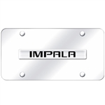 Chevrolet Impala 3D Chrome License Plate