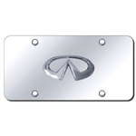 Infiniti Chrome License Plate with Chrome Infiniti Logo
