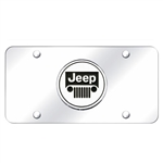 Jeep Chrome License Plate with Logo
