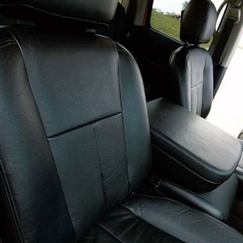 Dodge Ram Quad Cab Katzkin Leather Seat Upholstery, 2003, 2004, 2005 (2 piece front console, solid rear)