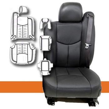 2003 2006 Chevrolet Tahoe Katzkin Leather Interior 3 Passenger Front Seat With Third Row Seating 3 Row