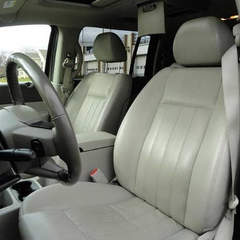 Cool Dodge Durango Katzkin Leather Seat Upholstery 2004 2005 2006 2007 Solid Third Row Shopsar Com Frankydiablos Diy Chair Ideas Frankydiabloscom