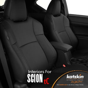 SCION TC Katzkin Leather Seat Upholstery, 2005, 2006, 2007, 2008, 2009, 2010