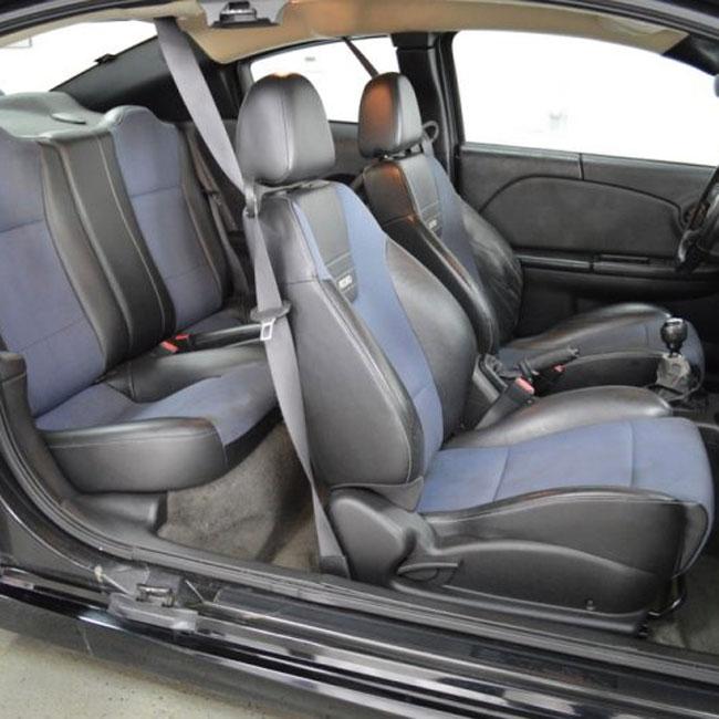 Saturn Ion Quad Coupe Redline Katzkin Leather Seat Upholstery 2005 2006 2007 Shopsar Com