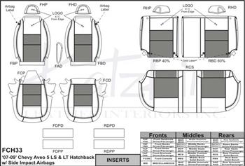 2008 Passenger /& Rear Floor GGBAILEY D4553A-S2A-BK-LP Custom Fit Car Mats for 2007 2009 Chevrolet Aveo5 Black Loop Driver