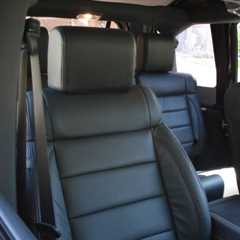 Jeep Wrangler 4 Door Katzkin Leather Seat Upholstery, 2007
