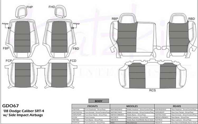 srt4 belt diagram dodge caliber srt 4 katzkin leather seat upholstery  2008  2009  dodge caliber srt 4 katzkin leather
