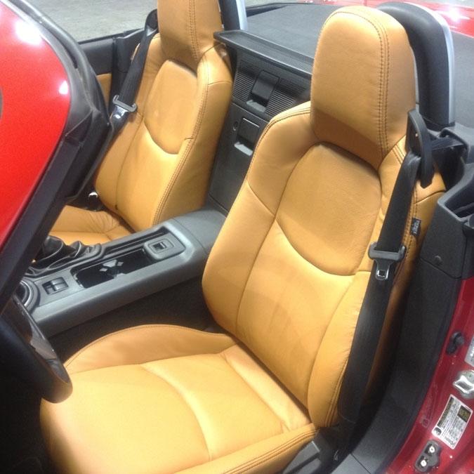 Mazda Miata Mx5 Katzkin Leather Seat Upholstery 2009 2010 2011