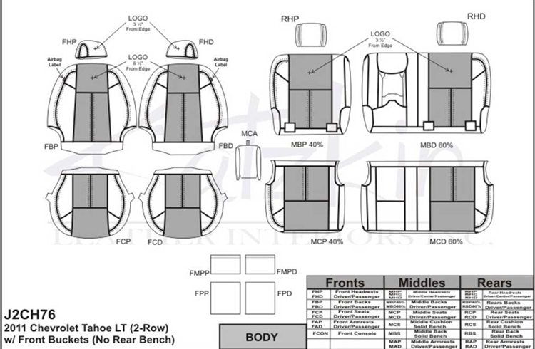 Chevrolet Tahoe Lt Katzkin Leather Seat Upholstery 2011 2012 2013. Katzkin Leather. Seat. Tahoe Third Row Seat Diagrams At Scoala.co