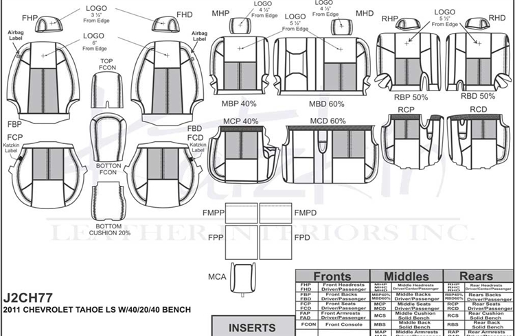 Chevrolet Tahoe Ls Katzkin Leather Seat Upholstery 2011 2012 2013. Katzkin Leather. Seat. Tahoe Third Row Seat Diagrams At Scoala.co