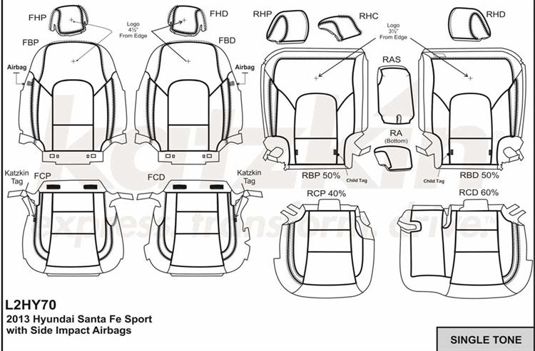 Hyundai Santa Fe SPORT Katzkin Leather Seat Upholstery