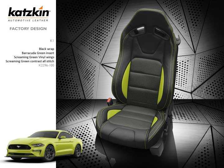 Ford Mustang Coupe Gt Katzkin Leather Seat Upholstery Recaro Style Seats 2015 2016 2017 2018 2019 2020 Shopsar Com