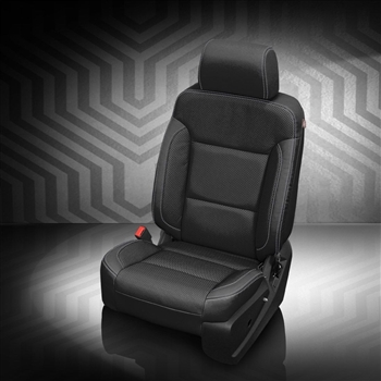 Chevrolet Silverado Regular Cab Katzkin Leather Seat Upholstery, 2017 (3 passenger front seat without under seat storage)