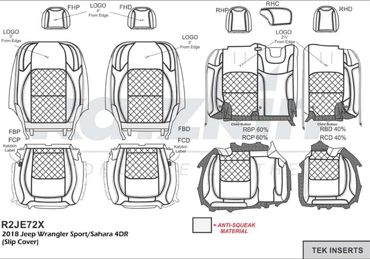 2018 Jeep Wrangler 4 Door Sport Jl New Body Katzkin Leather Seat