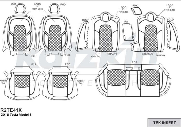 Tesla Model 3 Leather Seats | Tesla Model 3 Seat Covers