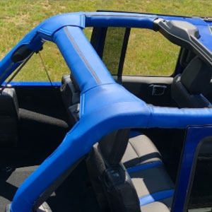 Jeep Wrangler 4 Door Katzkin Roll Bar Cover, 2020