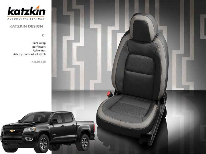Chevrolet Colorado Crew Cab Katzkin Leather Seat Upholstery With Rear Armrest 2019 2020 Shopsar Com