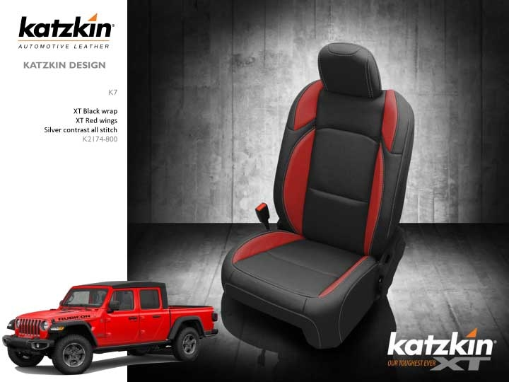Outstanding 2020 Jeep Gladiator Rubicon Katzkin Leather Interior Replaces Factory Cloth 2 Row Andrewgaddart Wooden Chair Designs For Living Room Andrewgaddartcom