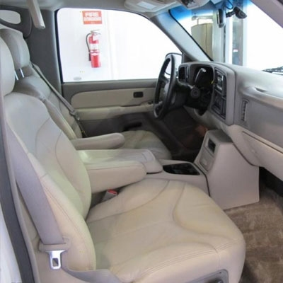 GMC Yukon Katzkin Leather Seat Upholstery (2 passenger front seat, with solid third row), 2000, 2001, 2002