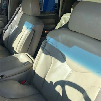 GMC Yukon Katzkin Leather Seat Upholstery (3 passenger front seat, with solid third row), 2001, 2002
