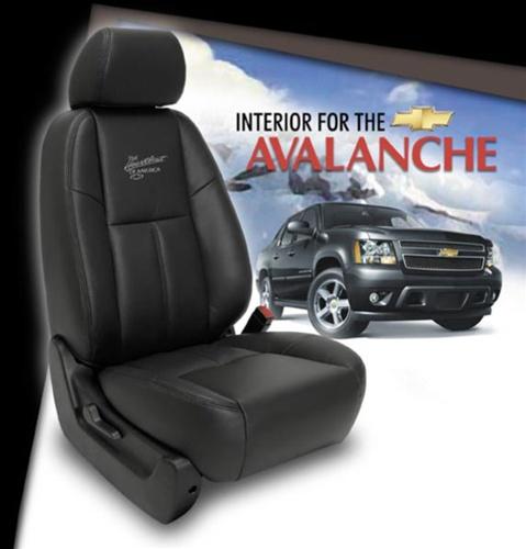 Car Seat Protector >> Chevrolet Avalanche Katzkin Leather Seat Upholstery Kit ...