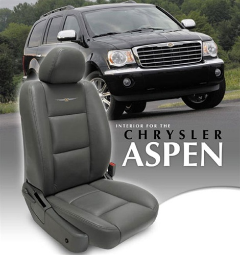 Chrysler aspen katzkin leather seat upholstery kit shopsar chrysler aspen custom leather interior solutioingenieria Image collections
