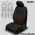 Jeep Wrangler Katzkin Leather Seat Upholstery Kit