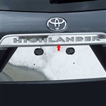 Toyota Highlander Chrome License Bar with Letter cut-out, 2008, 2009, 2010, 2011, 2012, 2013