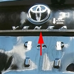 Toyota Venza Chrome License Bar Trim, 2009, 2010, 2011, 3012, 2013, 2014, 2015