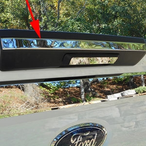 Ford Super Duty Chrome Tailgate Above Handle Accent Trim, 2017, 2018, 2019, 2020