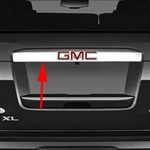 GMC Yukon Chrome Tailgate License Bar Cover, 2015, 2016, 2017, 2018, 2019, 2020