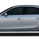 Audi A4 Chrome Lower Door Moldings, 2009, 2010, 2010, 2011, 2012, 2013, 2014, 2015, 2016, 2017, 2018, 2019, 2020