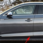 Audi A5 4 Door Chrome Lower Door Moldings, 2017, 2018, 2019, 2020