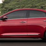 Hyundai Accent Chrome Lower Door Moldings, 2018, 2019