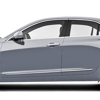 Cadillac ATS Chrome Lower Door Accent Moldings, 2013, 2014, 2015, 2016, 2017, 2018, 2019