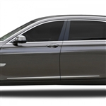 BMW 7-Series Chrome Lower Door Moldings, 2009, 2010, 2011, 2012, 2013, 2014, 2015, 2016, 2017, 2018, 2019