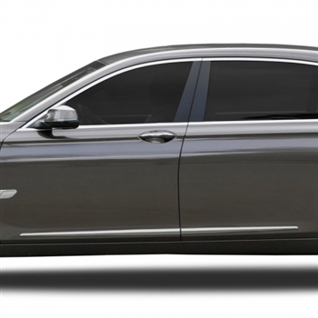 BMW 7-Series Chrome Lower Door Moldings, 2009, 2010, 2011, 2012, 2013, 2014, 2015, 2016, 2017