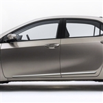 Toyota Corolla Chrome Lower Door Moldings, 2014, 2015, 2016, 2017, 2018, 2019