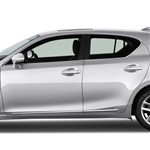 Lexus CT200H Chrome Lower Door Moldings, 2011, 2012, 2013, 2014, 2015, 2016, 2017, 2018