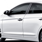 Hyundai Elantra Chrome Lower Door Moldings, 2017, 2018, 2019, 2020