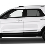 Ford Explorer Chrome Lower Door Moldings, 2011, 2012, 2013, 2014, 2015, 2016, 2017, 2018, 2019