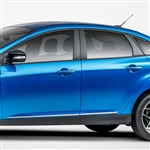 Ford Focus Chrome Lower Door Moldings, 2012, 2013, 2014, 2015, 2016, 2017